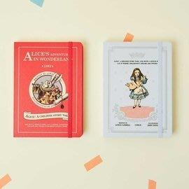 ♀高麗妹♀韓國 7321 Alice Diary 愛麗絲夢遊仙境23 週記事行事曆/自填日期萬年手帳(紅色白兔)現貨