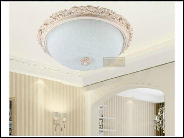 凱西美屋 歐式米白鏤空雕花藝術吸頂燈 鄉村白色吸頂燈 客廳燈特價 臥室燈