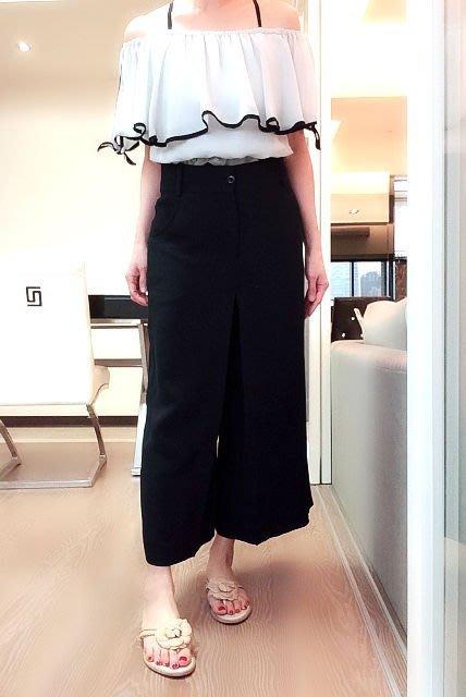 *Beauty*CHLOE黑色絲質高腰寬管褲38號    9000元