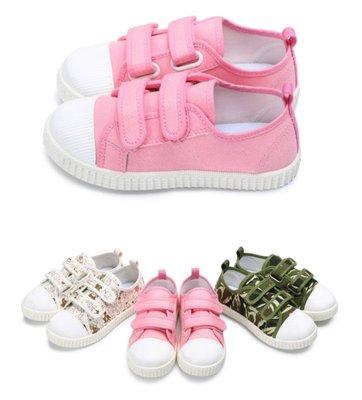 富發牌。童鞋。33CH09 貓咪休閒鞋  迷彩休閒鞋 (米/粉/迷彩)(16-21號) ~nanakids娜娜童櫥