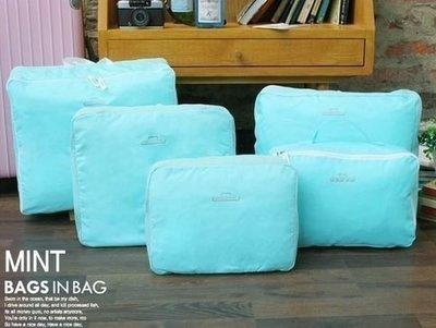 【東京數位】 全新 旅行收納整理包(5件組) 收納包 創意行李收納包 防水收納整理包