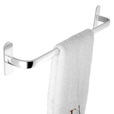 衛生間毛巾架吸盤  浴室太空鋁單桿強力免打孔毛巾桿igo