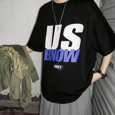 ZIHOPE T恤 純棉網眼 工作服裝@右先生夏季寬松學生半袖體恤衫印花INS短袖T恤男ZI812