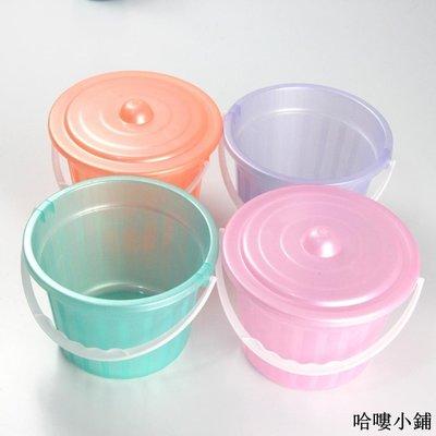 收納 特價小物 【塑料小桶】兒童畫筆筒沙灘玩具桶顏料桶帶蓋油漆桶水桶收納小桶單筆訂購滿200出貨唷