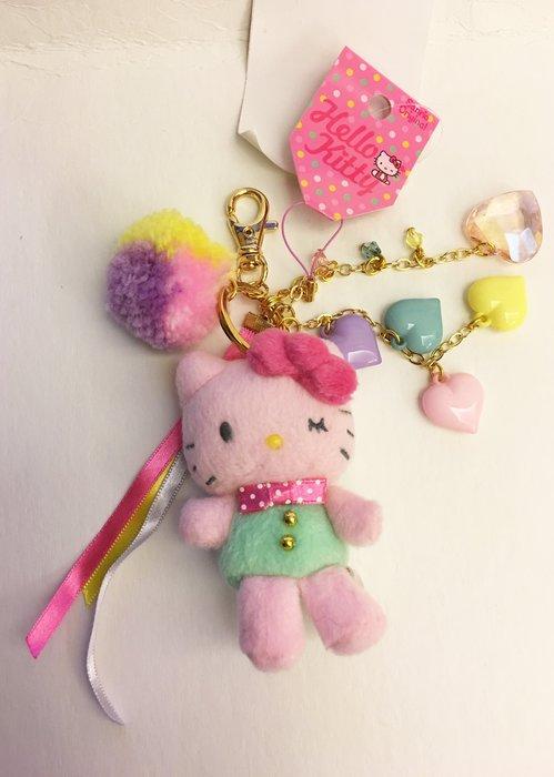 ^燕子部屋 ^凱蒂貓 Hello Kitty毛絨娃娃鑰匙圈吊飾掛勾2用-粉