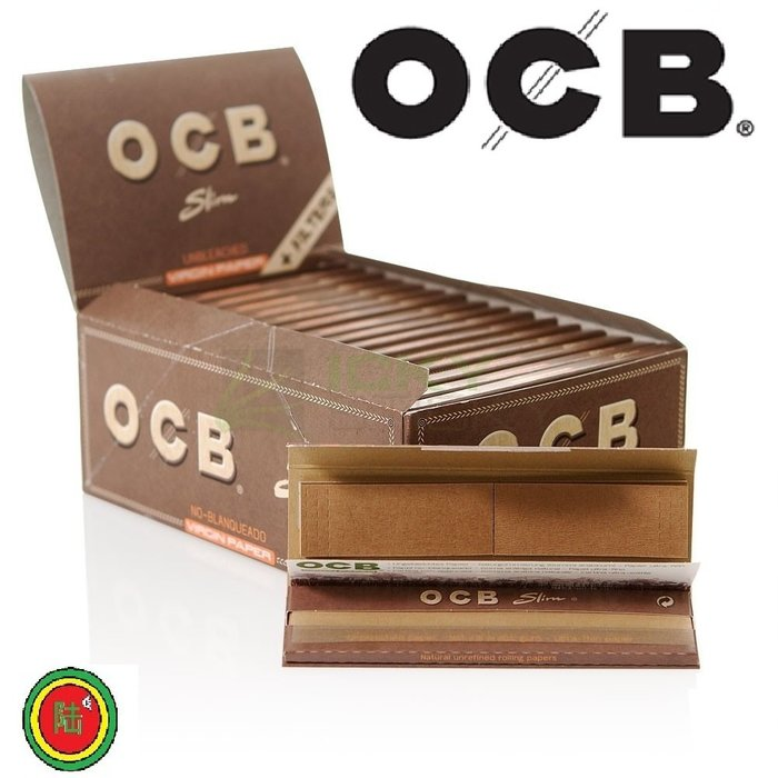 【Triple6】 法國原裝 OCB 110MM 木漿慢燃捲菸紙 捲煙套裝 附贈紙濾嘴