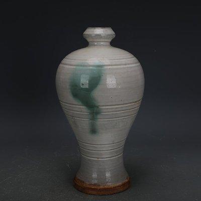 ㊣姥姥的寶藏㊣ 唐代邢窯白釉點彩手工瓷梅瓶  出土古瓷器古玩古董收藏擺件