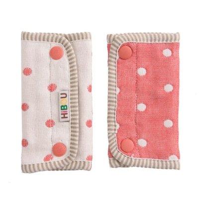 ☆╮花媽╭☆Hibou六層紗揹巾口水巾(水玉摩卡/水玉紅/蝴蝶粉/水玉紫)