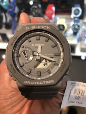 黑白灰色全新 CASIO G-SHOCK GA2100-1A 八角 黑白