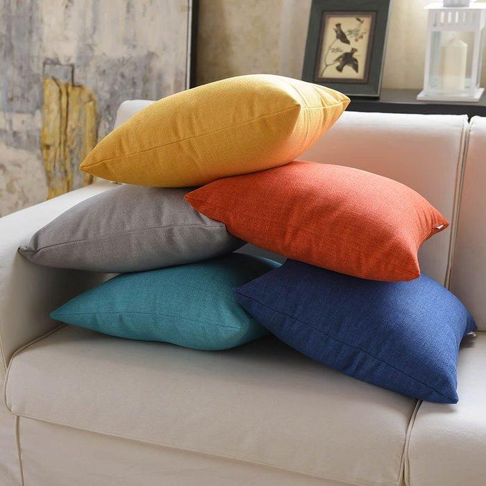 奇奇店-亞麻沙發抱枕靠墊臥室床頭大靠背辦公室靠枕套大號枕頭客廳不含芯(尺寸、是否含芯價格不同)