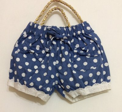 媽媽咪呀~Mamma Mia韓國童裝!過季零碼出清!藍色白點短褲