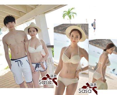 泳衣【*╮玫瑰。誌】日光温泉運動風三件套鋼圈比基尼泳衣泳裝C16861,一套直購價750元