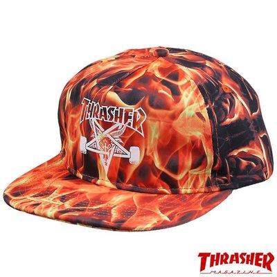 【THRASHER】 Inferno Snapback Hat 帽子(火焰)