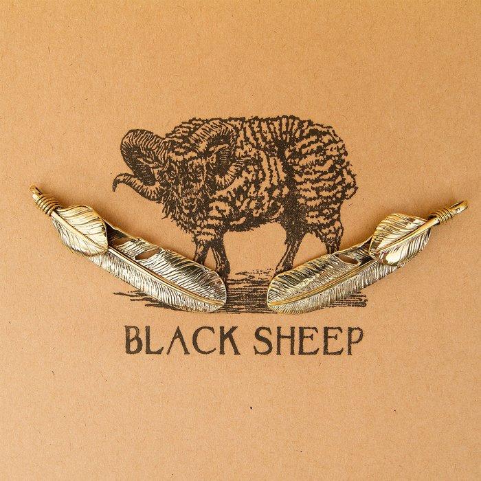 黑羊選物 綁葉羽毛 黃銅鑰匙圈 高橋復刻 潮流小物 老味 復古 送禮 養牛 重機 鑰匙配件 隨身配件
