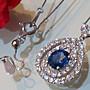 換現1.122克拉天然藍寶石頂級絲絨藍配鑽0.9...