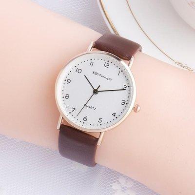 正韓大中小學生手錶女童男生潮流簡約休閒兒童手錶女孩石英錶防水WY