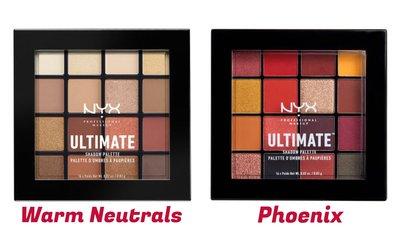❤️DND現貨❤️NYX Ultimate 眼影盤 Warm Neutrals / Phoenix 16色眼影