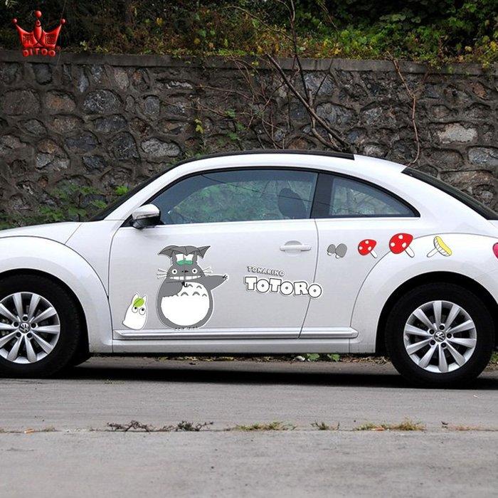@天祥汽車用品后車窗貼紙定制文字個性創意龍貓車貼卡通汽車貼紙遮蓋劃痕搞笑車