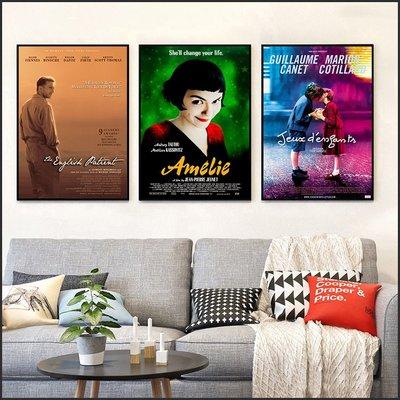艾蜜莉的異想世界 Amelie 英倫情人 敢愛就來 電影海報 藝術微噴 掛畫 嵌框畫 @Movie PoP 多款海報#