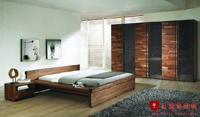 [紅蘋果傢俱] N21 床架 床頭櫃 衣櫃  全實木  臥室  餐椅  展示櫃 斗櫃 地櫃 工廠直營