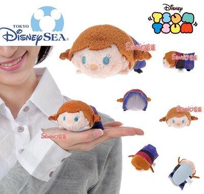《東京家族》東京迪士尼樂園限定TSUM TSUM 冰雪奇緣 安娜公主(Anna)絨毛玩偶公仔螢幕擦(S)
