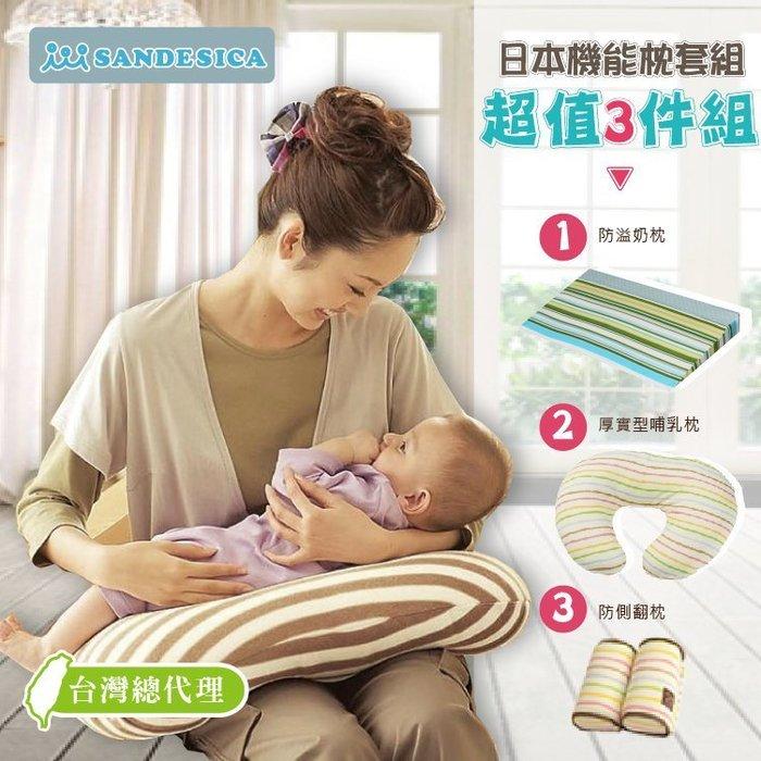 嬰兒床必備三件套【A50004】孕婦側睡枕/防吐奶枕兩用(嬰兒枕)+防側翻枕+哺乳枕嬰兒床 彌月禮 新生兒枕 寶寶枕