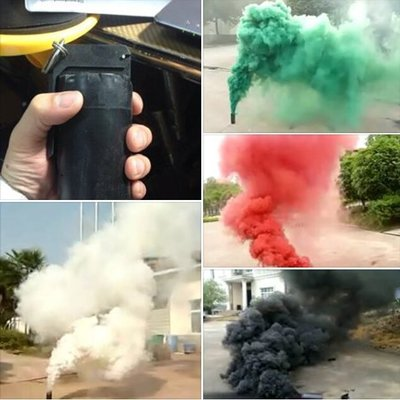 一顆1000元煙霧信號彈 手榴彈造型 孔徑加大煙霧量加三倍 黑色煙霧彈 黑煙信號彈 消防演練 軍隊演習 火災模擬非震撼彈