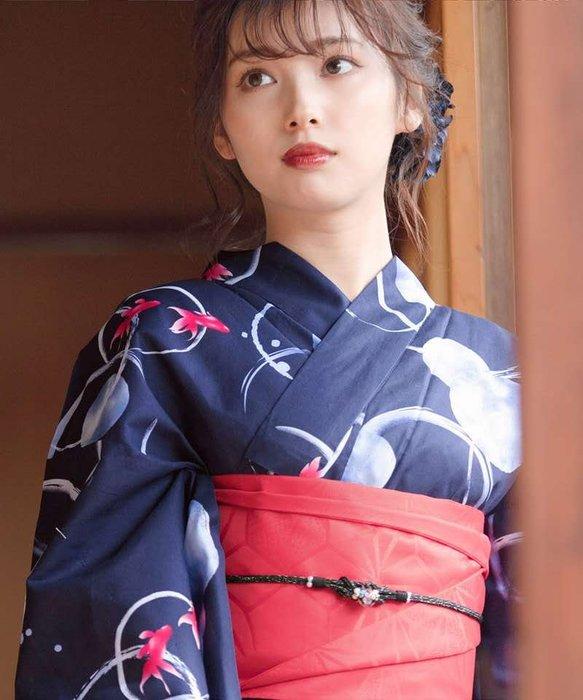 02日本新款正裝和服浴衣傳統款式日系復古攝影寫真攝影服裝COS棉