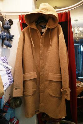 [ Satisfaction ] 美製Polo Ralph Lauren經典絕版羊毛連帽大衣  Made in USA