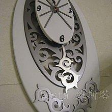 *Vesta 維斯塔*典藏擺動實木亮鑽藝術精品時鐘