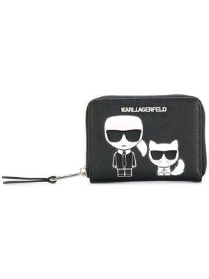 【血拼妞】KARL LAGERFELD Ikonik Small Zip 皮夾 黑色 卡爾 老佛爺 新款 (代購)
