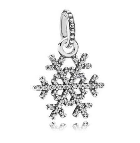 PANDORA 斷貨 絕版 雪花晶鑽墜飾項鍊 390354CZ 現貨