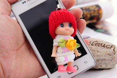 韓版超萌毛線娃娃鑰匙手機包包掛件