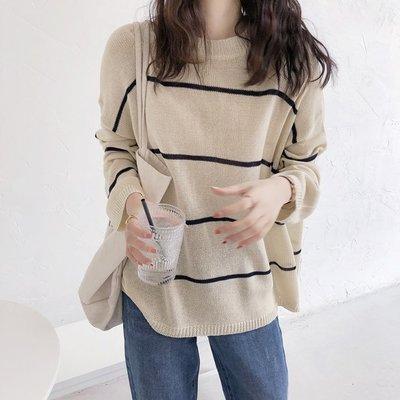 【UBY】條紋針織衫!慵懶風防曬針織衫◄No09220