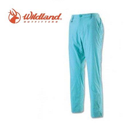 丹大戶外【Wildland】荒野 女彈性透氣抗UV九分褲 0A11331-65 湖水藍