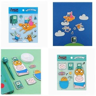 ♀高麗妹♀韓國 Adventure Time《探險活寶》MAGNET SET 磁鐵套組6入/冰箱.辦公室屏風(現貨)