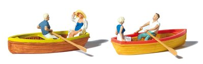 傑仲 (有發票) 博蘭 公司貨 Preiser 人物組 Rowing Boats 10686 HO