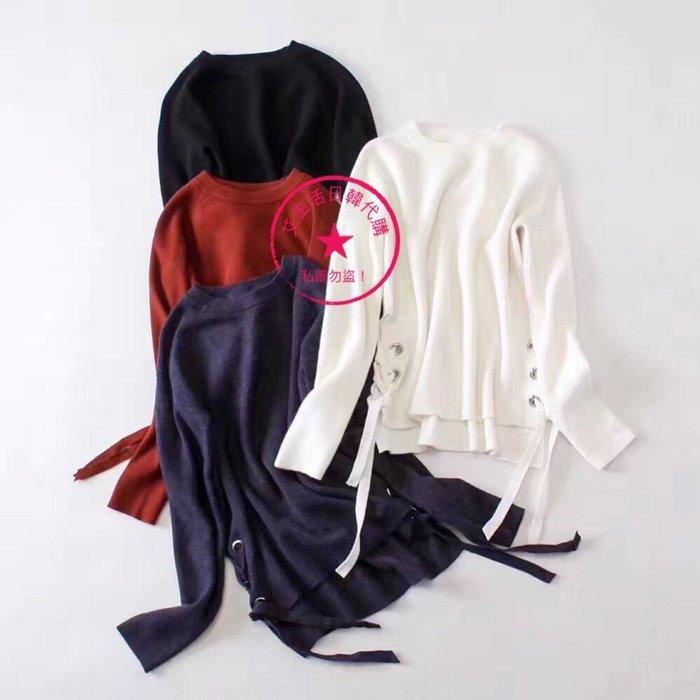韓版羊絨綁帶毛衣