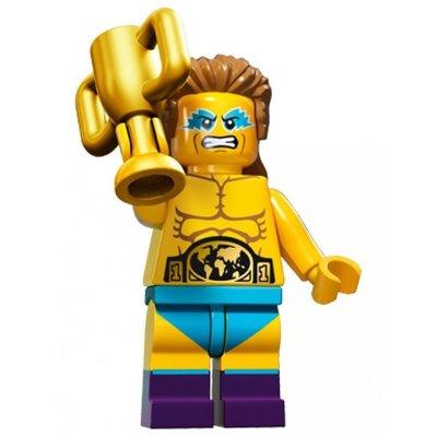 LEGO 樂高 15代人偶包 單售14號 摔角冠軍 全新 71011 minifigures seaeon 15 十五代