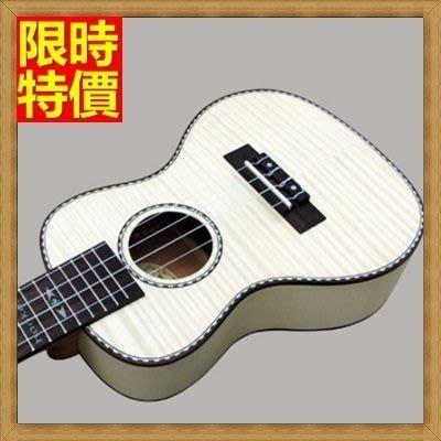 烏克麗麗 ukulele-23吋虎紋楓木合板夏威夷吉他四弦琴樂器69x27[獨家進口][米蘭精品]