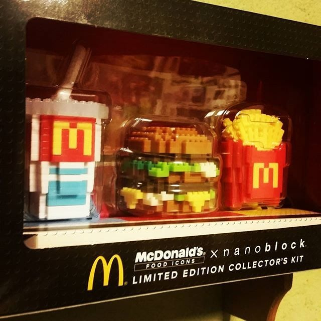 Ariel's Wish-日本期間限量販售McDonald's麥當勞nanobloc-可樂薯條漢堡樂高LEGO積木-盒裝