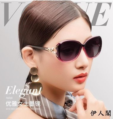 墨鏡2018偏光太陽鏡女防紫外線圓臉