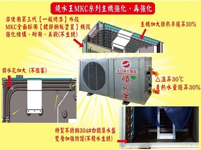 燒水王熱泵節能熱水器.回饋專案特價28000元/台(售完為止)