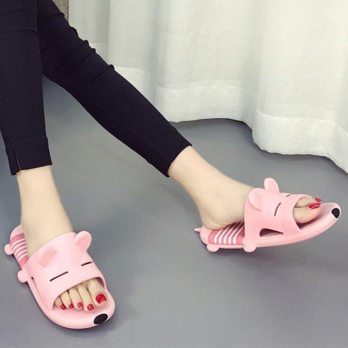 韓版可愛拖鞋女士夏季室內浴室防滑卡通居家居洗澡速干軟底涼拖鞋