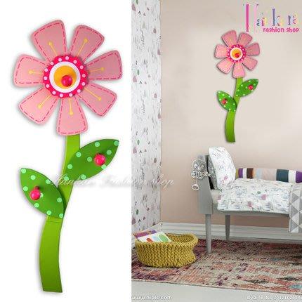 ☆[Hankaro]☆ 可愛兒童簡約木質花朵造型衣帽掛勾壁飾