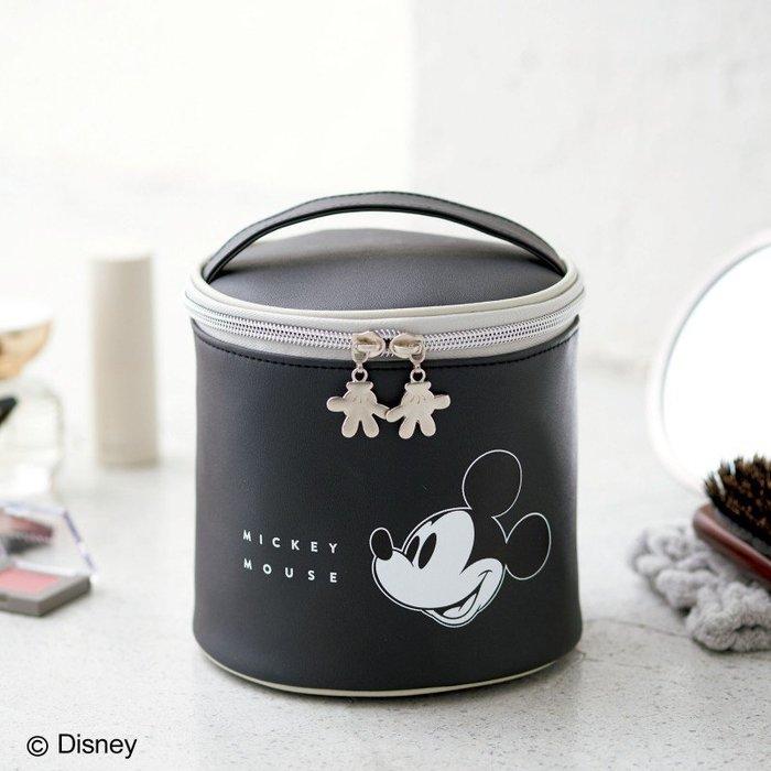 [瑞絲小舖]~日雜附錄MICKEY MOUSE米奇圓筒收納包 化妝包 小物包 收納袋 手拿包 筆袋