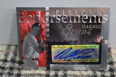 Darrell Evans 2005 Topps Pristine 勇士隊414轟傳奇球星 全壘打王 超漂亮金屬簽名卡