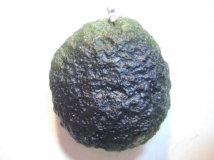 【采鑫坊】綠捷克隕石墜子~整體上下尺寸53.5mm 57.5g《直購品》~