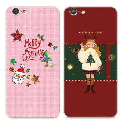 【海豚】可愛圣誕老人oppoa57手機殼a33a37a39a59s卡通f5f7f9f11情侶禮物