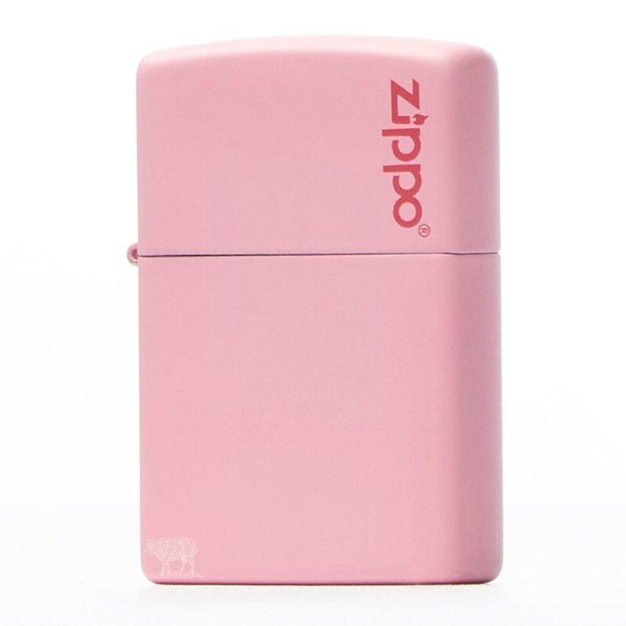 黑羊選物 Zippo 粉紅素面基本款 logo小標 美國原廠 烤漆質感 多色可挑 經典配件 菸友必備 適合送禮